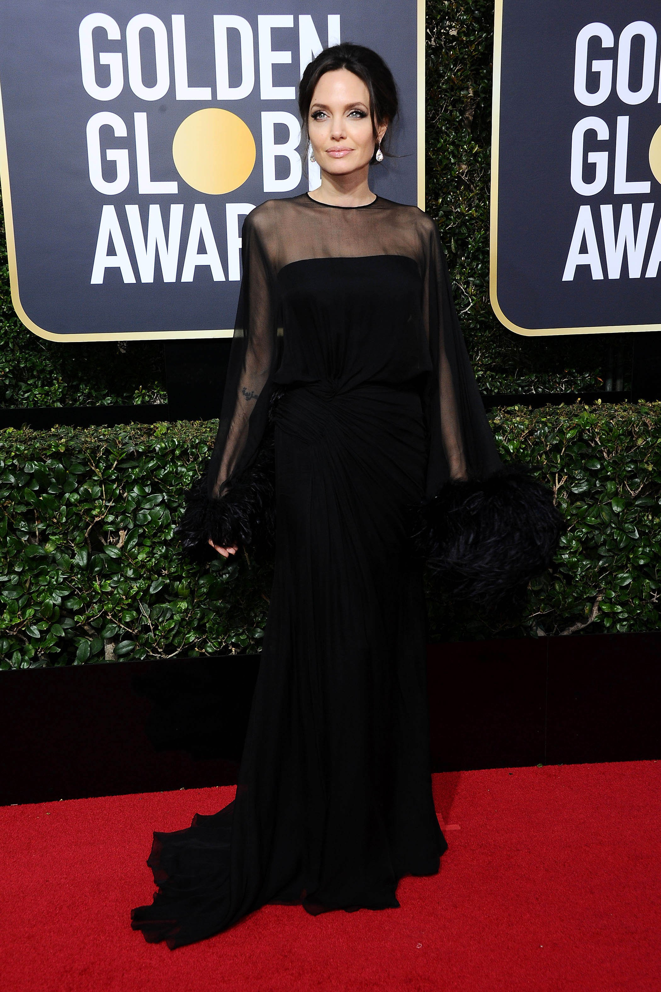 , Beverly Hills, CA -20180107 - The 75th Golden Globe Awards - Arrivals at The Beverly Hilton  -PICTURED: Angelina Jolie -, Image: 359501590, License: Rights-managed, Restrictions: , Model Release: no, Credit line: Profimedia, INSTAR Images