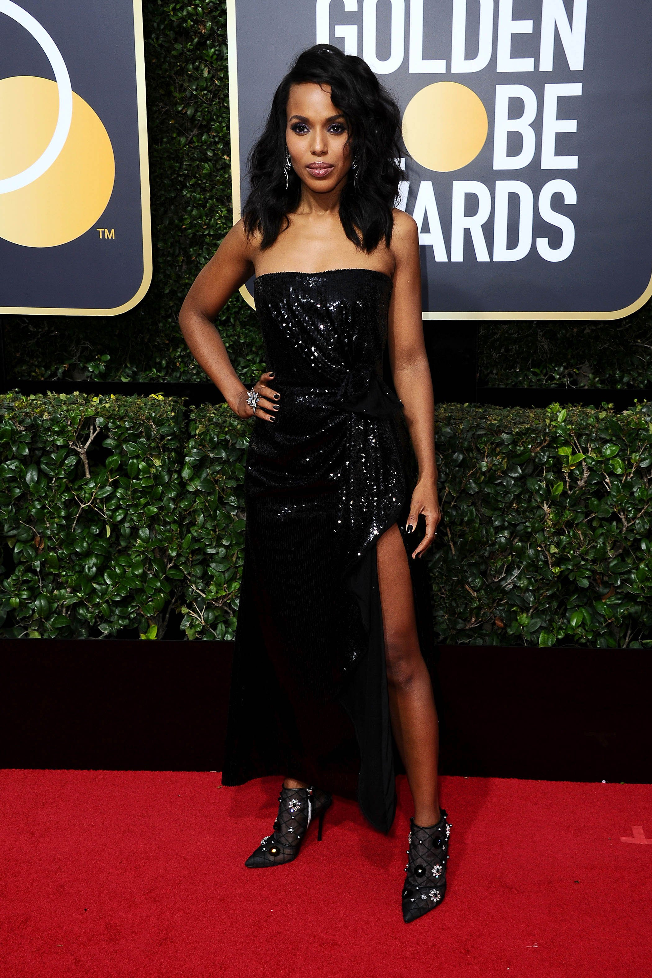 , Beverly Hills, CA -20180107 - The 75th Golden Globe Awards - Arrivals at The Beverly Hilton  -PICTURED: Kerry Washington -, Image: 359496173, License: Rights-managed, Restrictions: , Model Release: no, Credit line: Profimedia, INSTAR Images