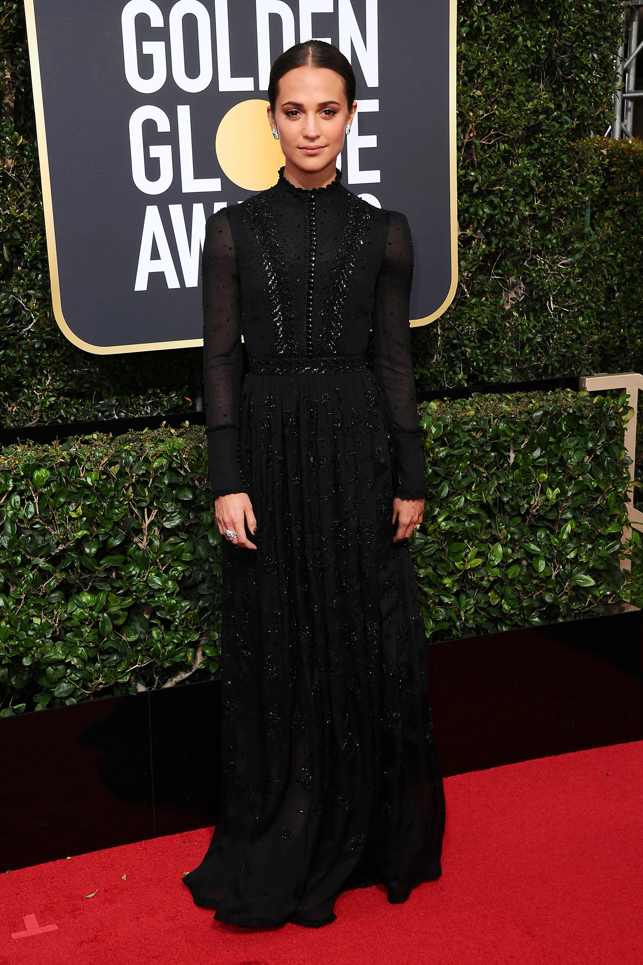 , Beverly Hills, CA -20180107 - The 75th Golden Globe Awards - Arrivals at The Beverly Hilton  -PICTURED: Alicia Vikander -, Image: 359493988, License: Rights-managed, Restrictions: , Model Release: no, Credit line: Profimedia, INSTAR Images