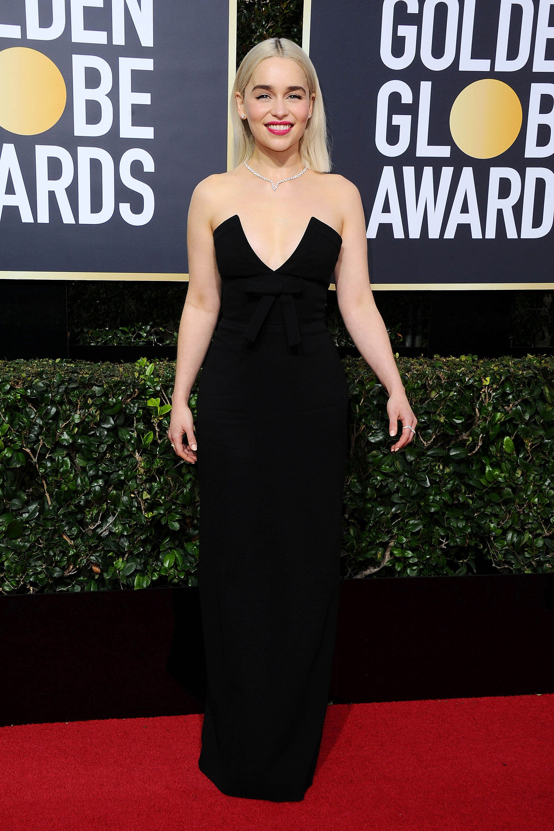 , Beverly Hills, CA -20180107 - The 75th Golden Globe Awards - Arrivals at The Beverly Hilton  -PICTURED: Emilia Clarke -, Image: 359502870, License: Rights-managed, Restrictions: , Model Release: no, Credit line: Profimedia, INSTAR Images