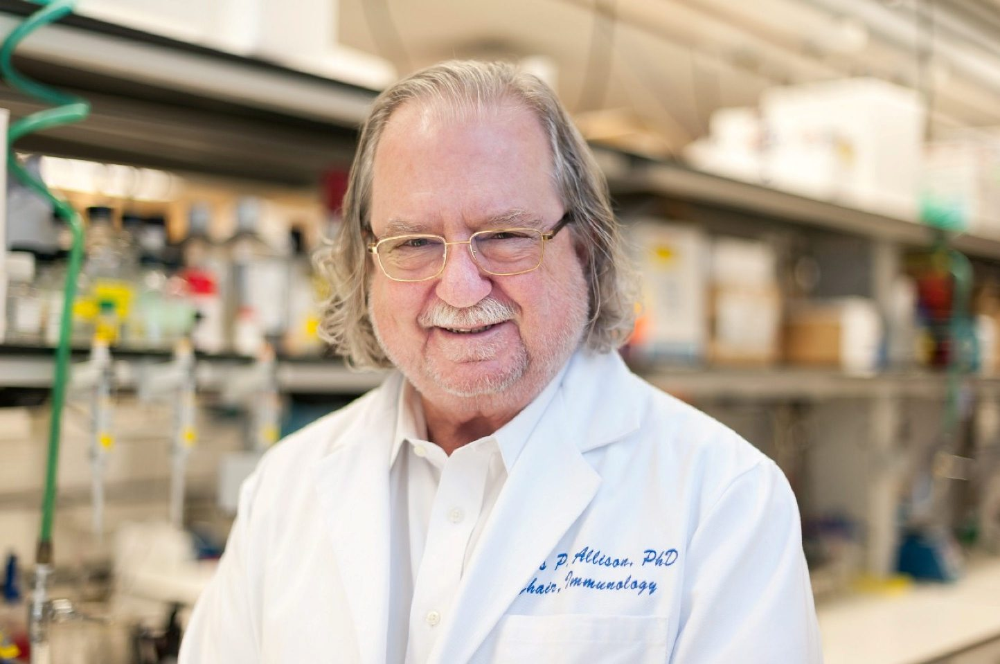 Ph.D. James P. Allison of MD Anderson Cancer Center at The University of Texas is seen in this picture obtained from MD Anderson Cancer Center at The University of Texas on October 1, 2018. MD Anderson Cancer Center at The University of Texas/Handout via REUTERS ATTENTION EDITORS - THIS IMAGE WAS PROVIDED BY A THIRD PARTY. NO RESALES. NO ARCHIVES.