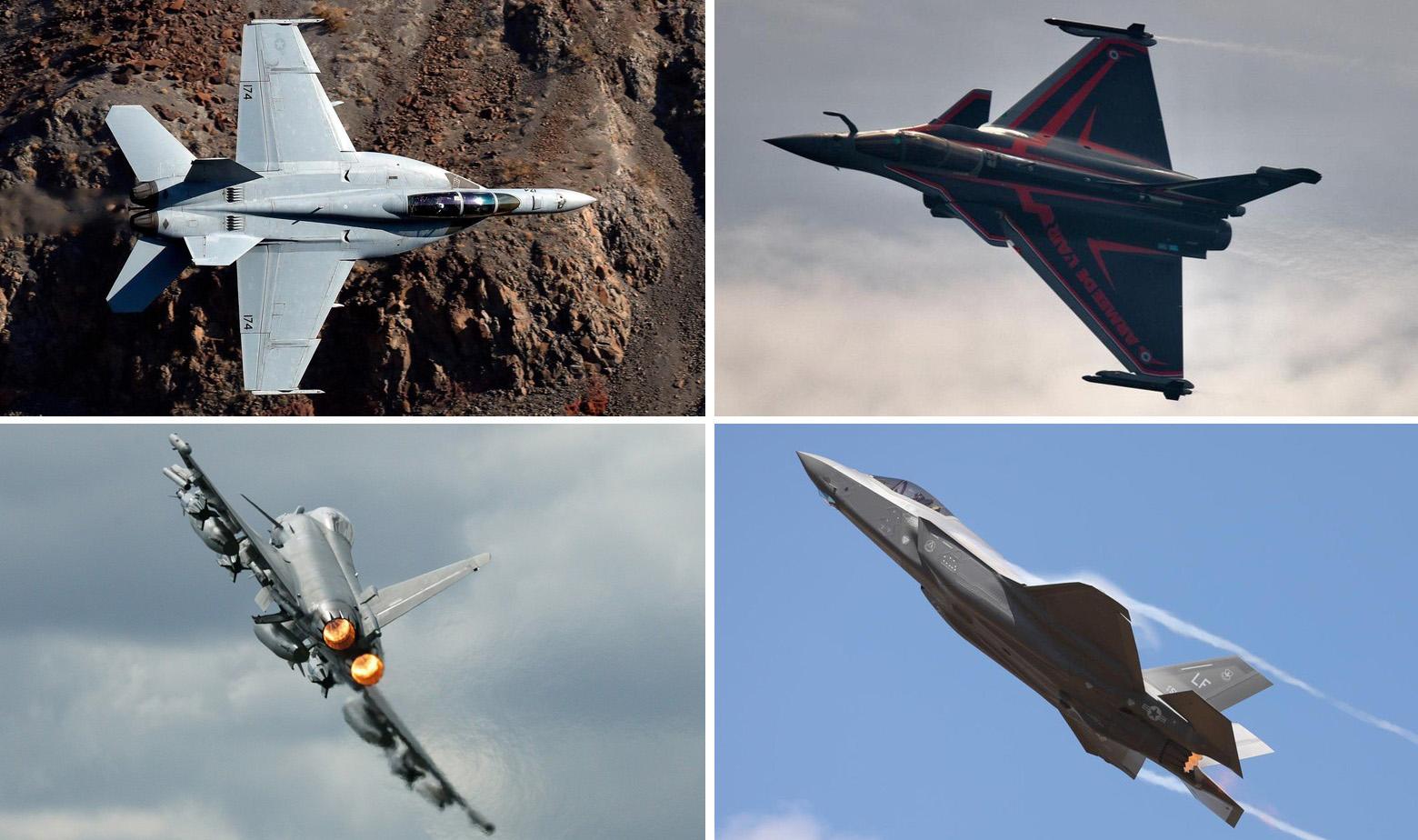 F/A-18 Super Hornet, Dassault Rafale, Eurofighter Typhoon i F-35A