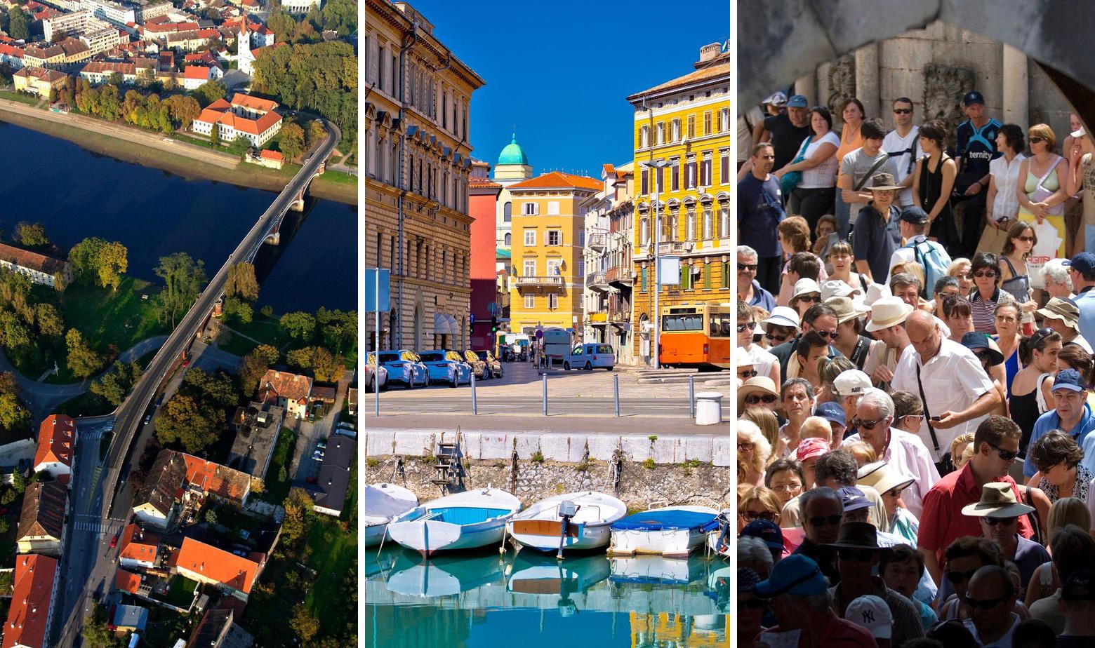 Sisak, Rijeka, Dubrovnik