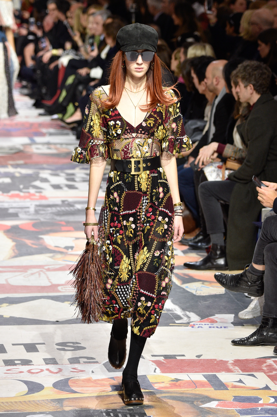 PARIS, FRANCE - FEBRUARY 27:  Teddy Quinlivan walks the runway during the Christian Dior show as part of the Paris Fashion Week Womenswear Fall/Winter 2018/2019 on February 27, 2018 in Paris, France.  (Photo by Peter White/Getty Images)