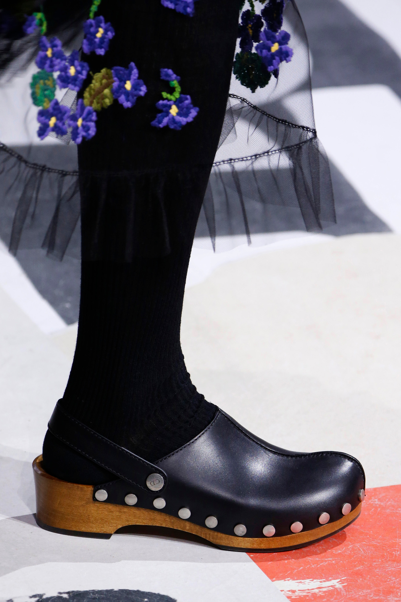 Shoe detail during the Christian Dior show as part of the Paris Fashion Week Womenswear Fall/Winter 2018/2019 on February 27, 2018 in Paris, France.