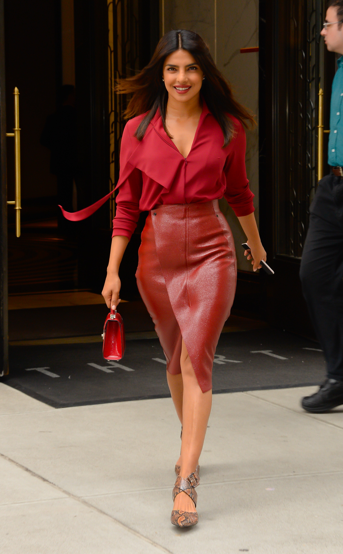 NEW YORK, NY - OCTOBER 09:  Actress Priyanka Chopra is seen walking in soho  on October 9, 2018 in New York City.  (Photo by Raymond Hall/GC Images)