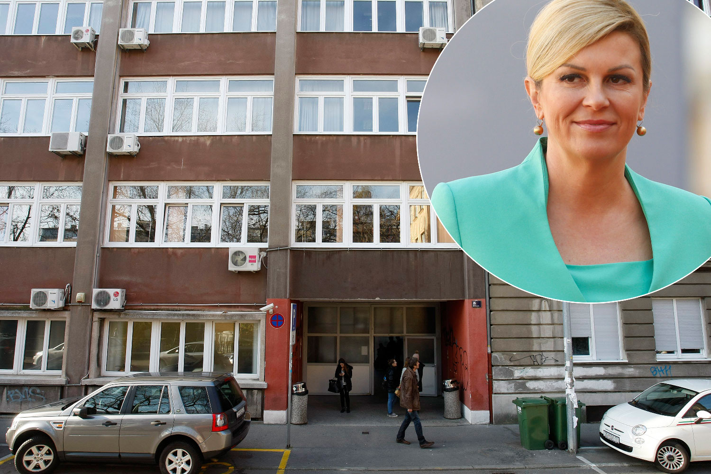 na glavnoj fotografiji: zgrada Fakulteta političkih znanosti; u krugu: Kolinda Grabar-Kitarović