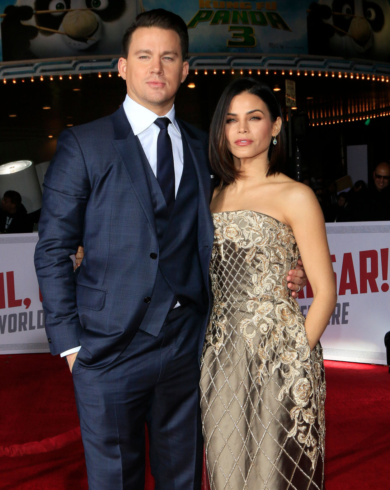 WESTWOOD, CA - FEBRUARY 01: Actor Channing Tatum and actress Jenna Dewan-Tatum attend Universal Pictures' 'Hail, Caesar!' premiere at Regency Village Theatre on February 1, 2016 in Westwood, California. <P> Pictured: Channing Tatum, Jenna Dewan, Jenna Dewan Tatum <B>Ref: SPL1219469  020216  </B><BR/> Picture by: @Parisa<BR/> </P><P> <B>Splash News and Pictures</B><BR/> Los Angeles:310-821-2666<BR/> New York:212-619-2666<BR/> London:870-934-2666<BR/> <span id=