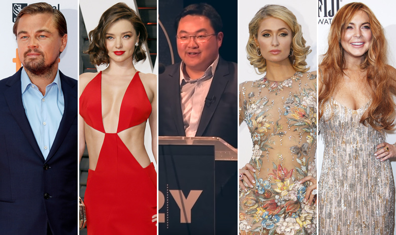 Leonardo DiCaprio, Miranda Kerr, Low Taek Jho, Paris Hilton, Lindsay Lohan
