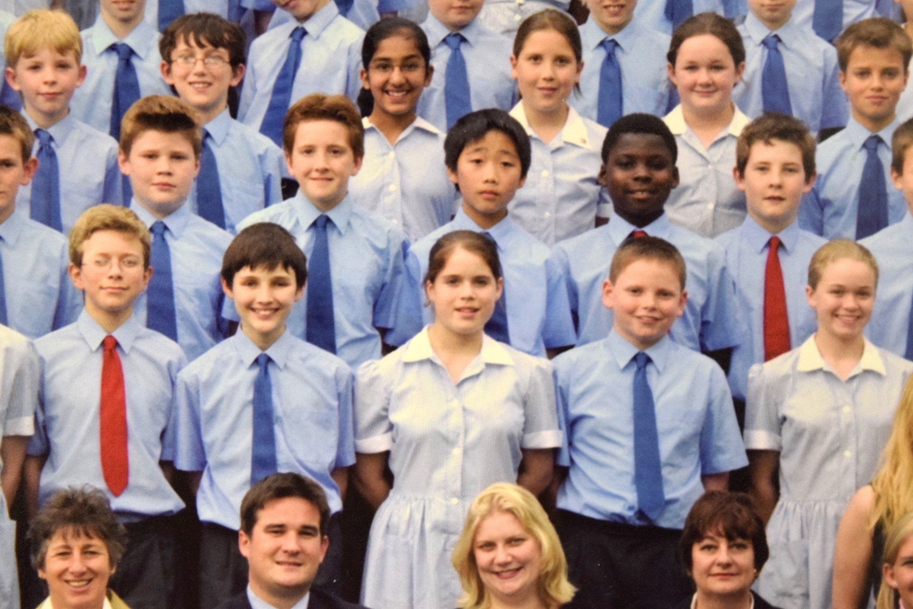 Aged 12, Princess Eugenie at St George's School Windsor Castle in 2002  FULL TEXT OF THIS FEATURE IS SEND TO YOU VIA E-MAIL., Image: 390517187, License: Rights-managed, Restrictions: , Model Release: no, Credit line: Profimedia, IMP Features