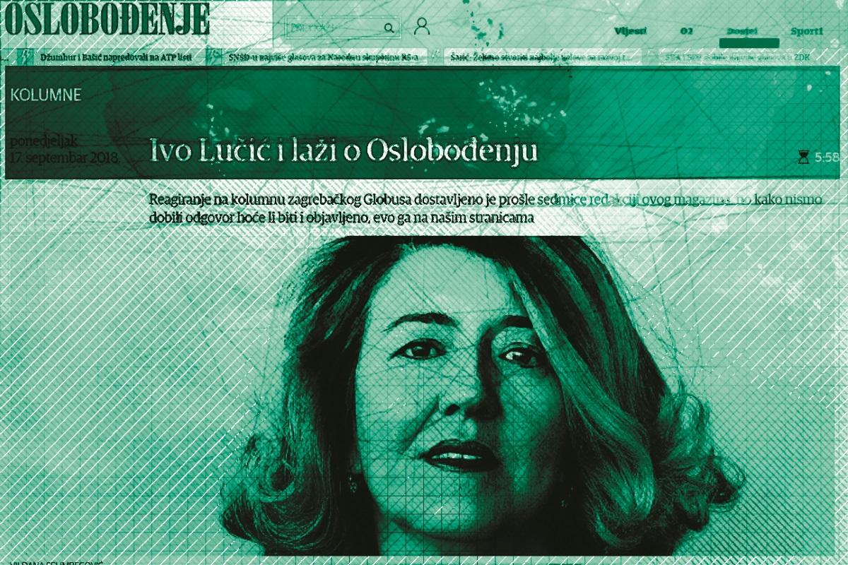 Vildana Selimbegović, glavna i odgovorna urednica i direktorica Oslobođenja.