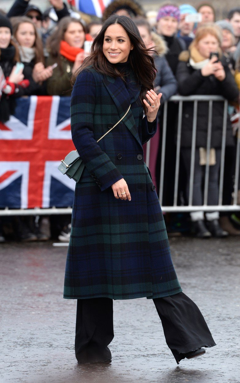 Meghan Markle during a walkabout on the esplanade at Edinburgh Castle, during their visit to Scotland., Image: 363159711, License: Rights-managed, Restrictions: , Model Release: no, Credit line: Profimedia, Press Association