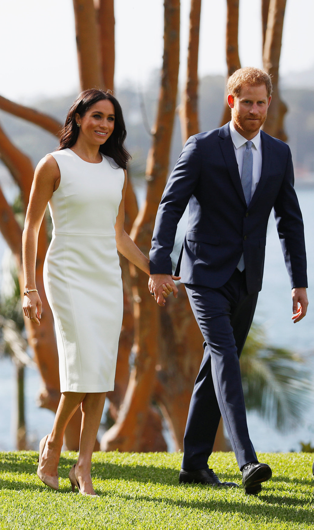 SYDNEY, AUSTRALIA - OCTOBER 16: Prince Harry, Duke of Sussex and Meghan, Duchess of Sussex attend a Welcome Event at Admiralty House on October 16, 2018 in Sydney, Australia. The Duke and Duchess of Sussex are on their official 16-day Autumn tour visiting cities in Australia, Fiji, Tonga and New Zealand. (Photo by Phil Noble - Pool/Getty Images)