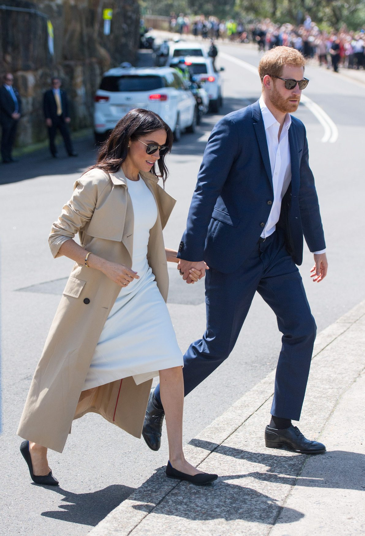 The Duke and Duchess of Sussex depart following a visit to Taronga Zoo in Sydney on the first day of the Royal couple's visit to Australia Tuesday October 16, 2018.  Dominic Lipinski/Pool via REUTERS