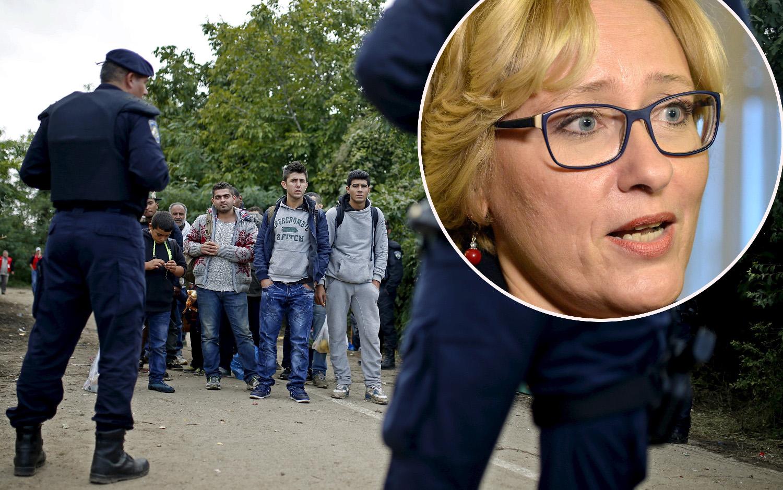 migranti, policija, pravobraniteljica