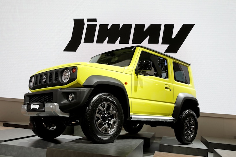 The Suzuki Jimny car is pictured during the first press day of the Paris auto show, in Paris, France, October 2, 2018. REUTERS/Benoit Tessier