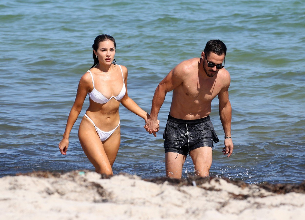 Bikini clad Model Olivia Culpo and NFL player Danny Amendola are clearly back together as they hold hands  on the beach in Miami. 25 Sep 2018, Image: 388375486, License: Rights-managed, Restrictions: World Rights, Model Release: no, Credit line: Profimedia, Mega Agency
