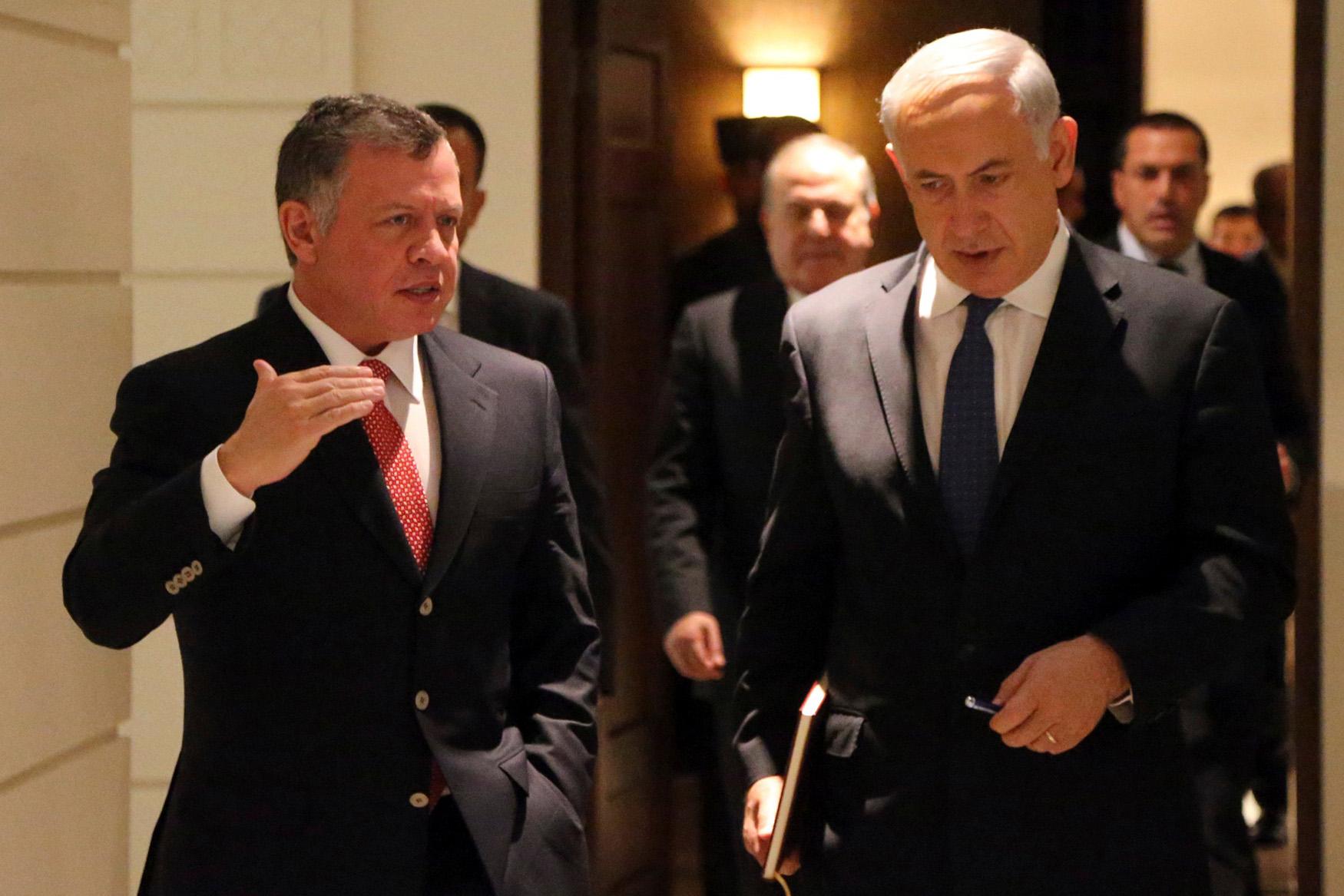 Jordanov kralj Abdullah i izraelski premijer Benjamin Netanyahu