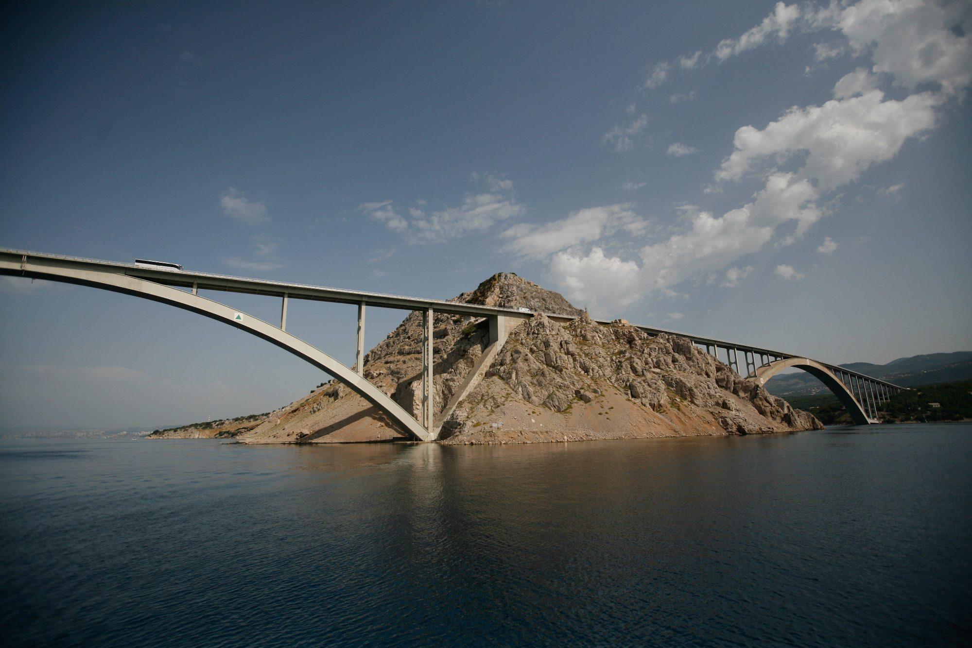 Rijeka, 300318. Krcki most. Foto: Matija Djanjesic / CROPIX