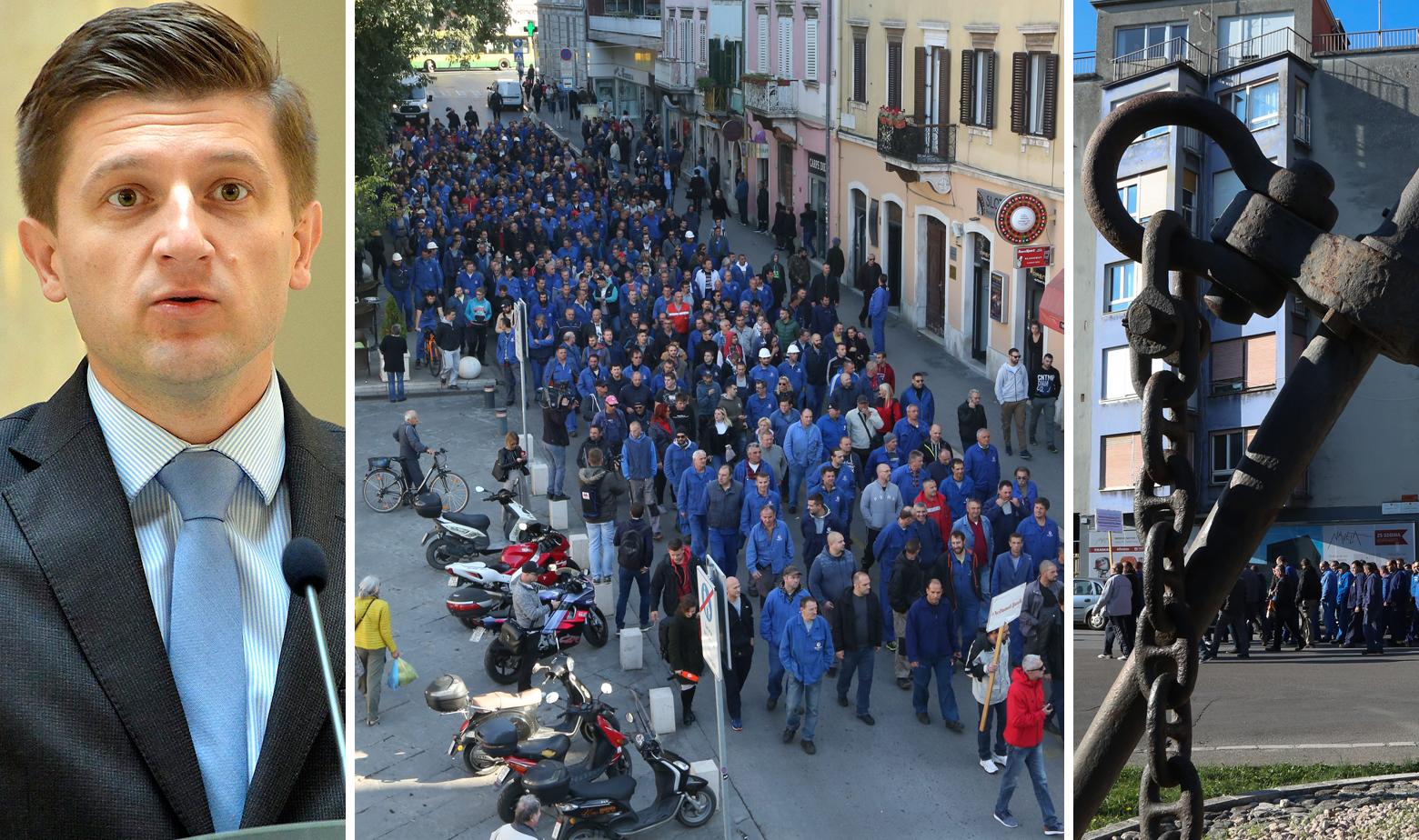 Zdravko Marić i radnici Uljanika u štrajku