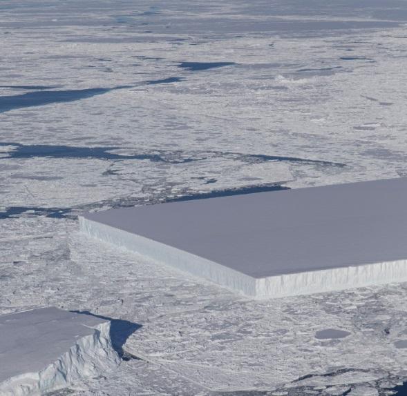 NASA otkrila savršeno pravokutni ledenjak.