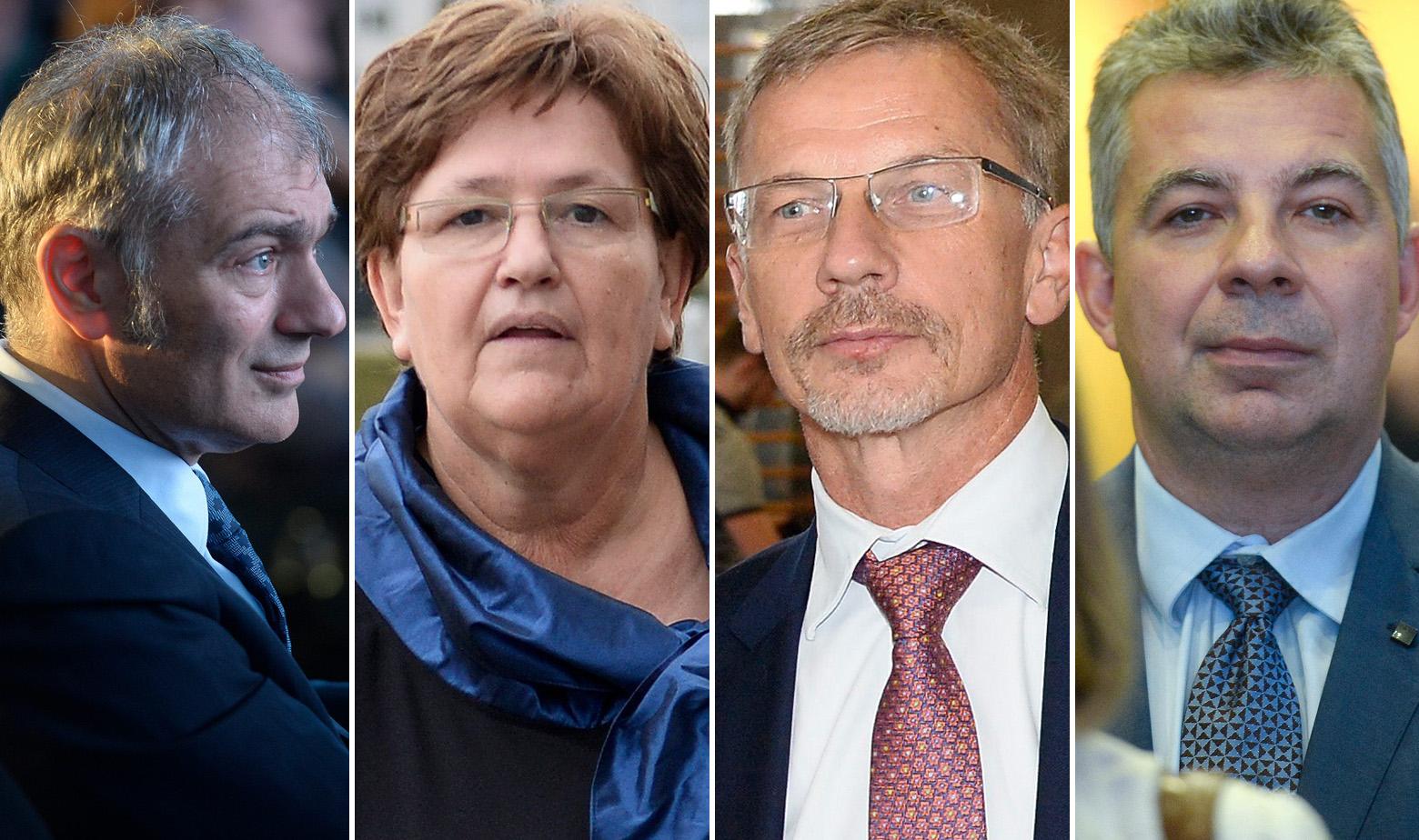 Emil Tedeschi, Marica Vidaković, Boris Vujčić i Zoltan Aldott