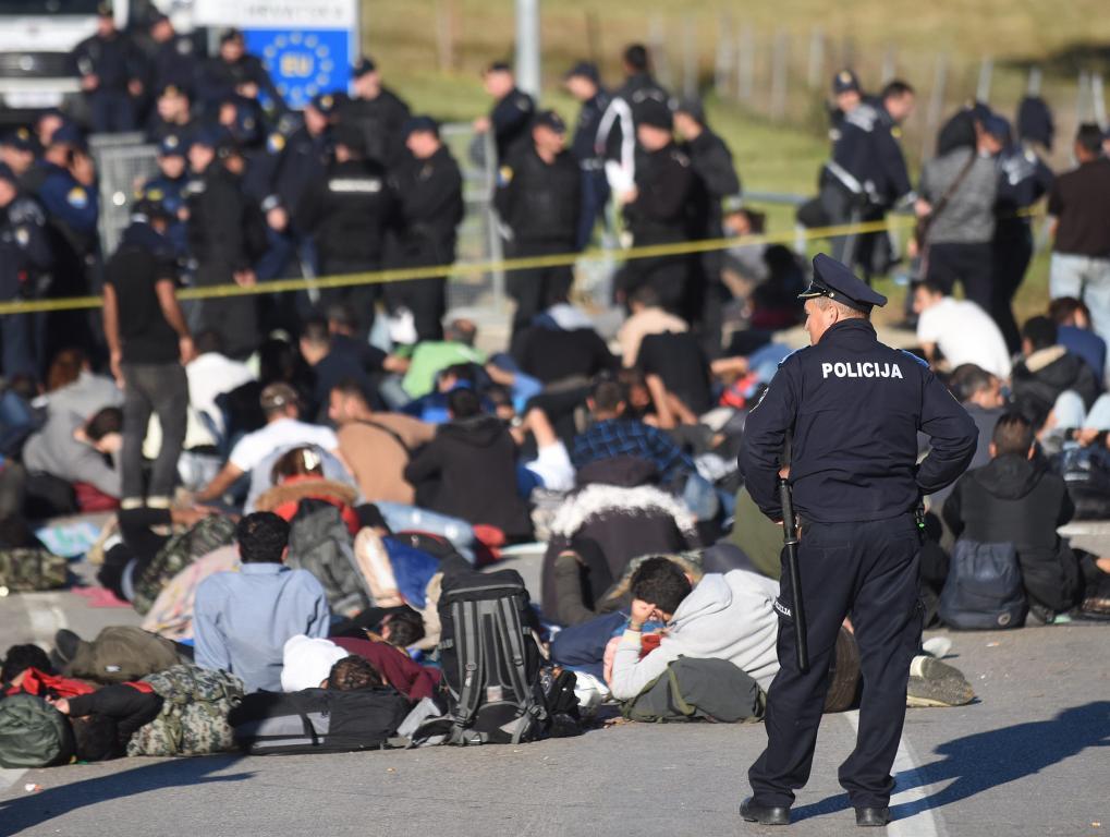 Migranti na graničnom prijelazu Maljevac