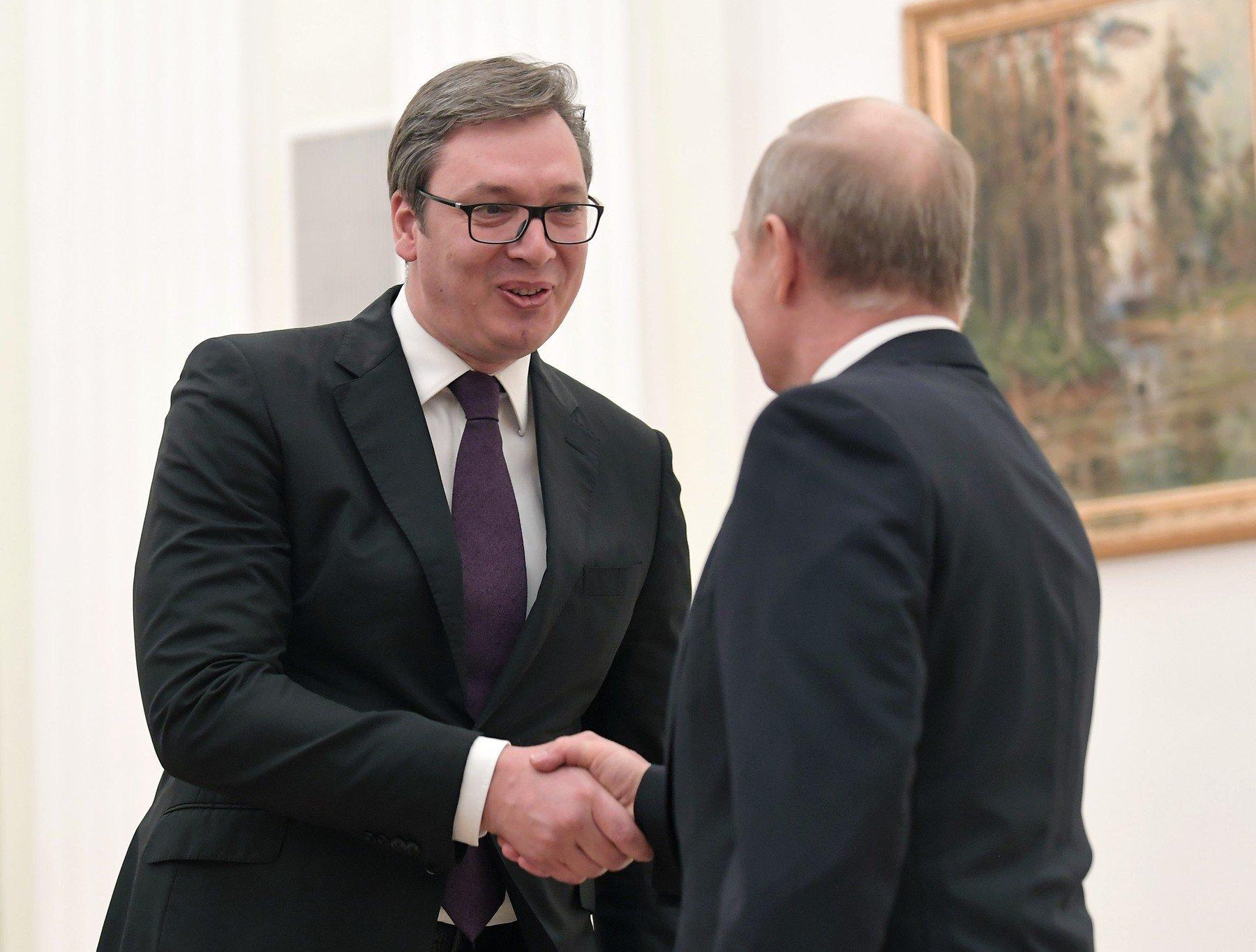 Srbijanski predsjednik Aleksandar Vučić i ruski predsjednik Vladimir Putin