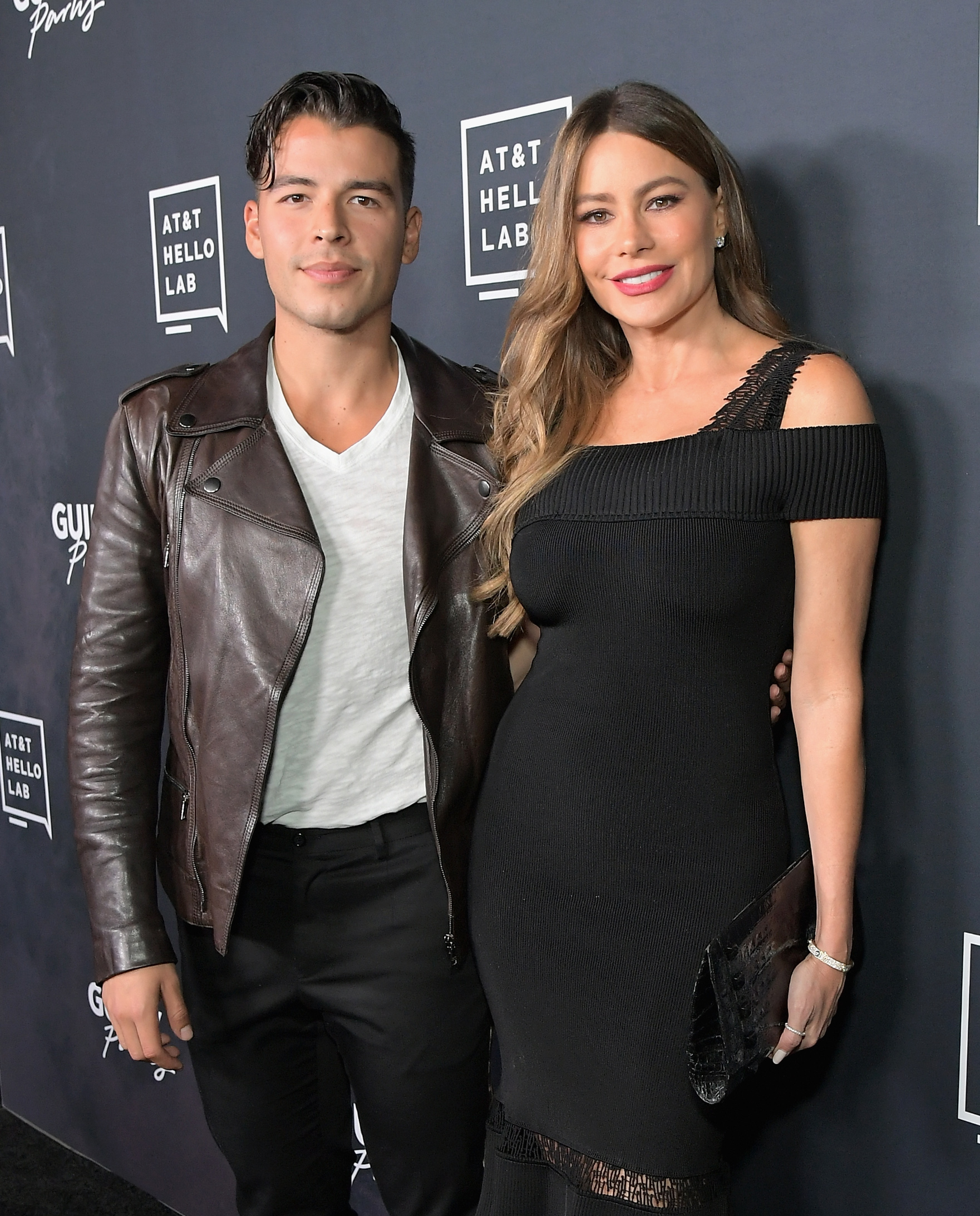 HOLLYWOOD, CA - OCTOBER 02:  Manolo Vergara (L) and Sofia Vergara attend the