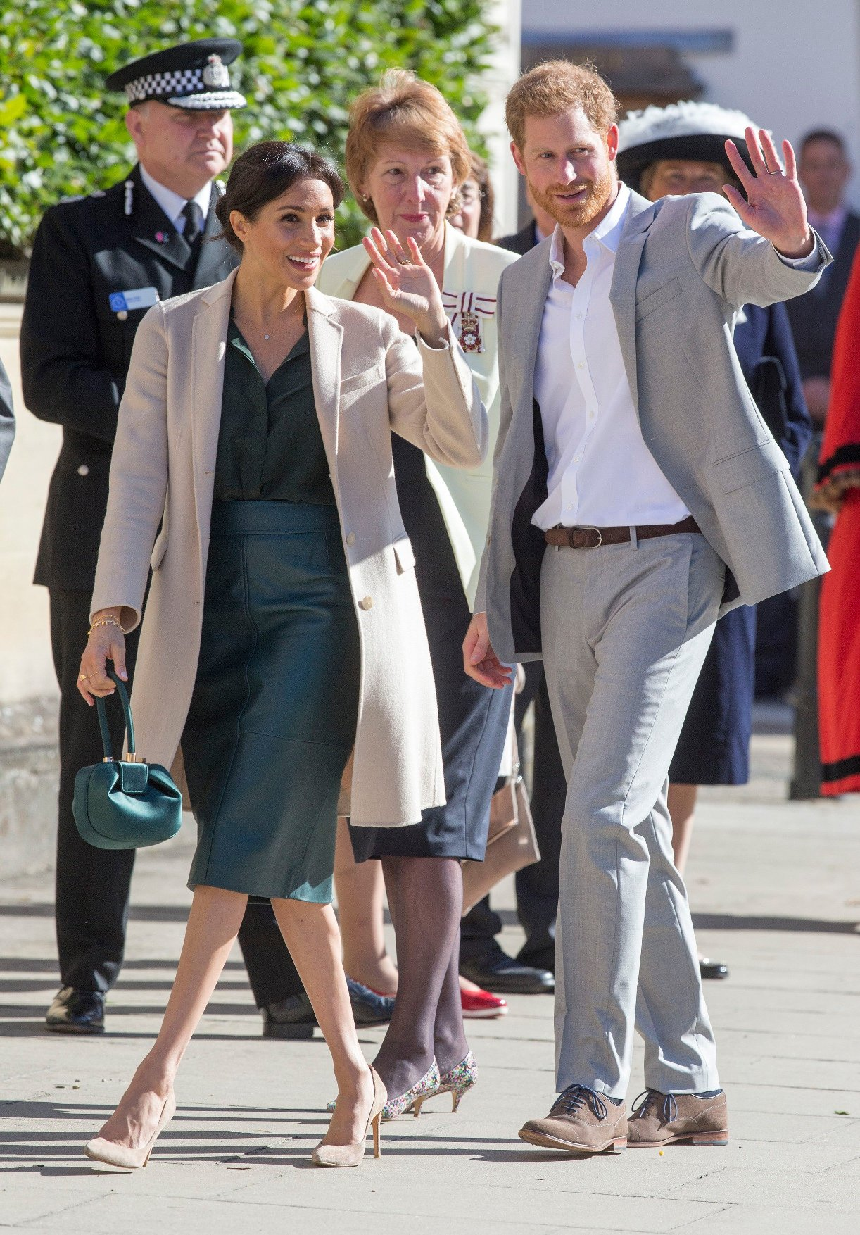 The Duke and Duchess of Sussex visit Chichester in Sussex. Meghan and Prince Harry walk down West Street in the centre of the city meeting members of the public on a walkabout. 03 Oct 2018, Image: 389643511, License: Rights-managed, Restrictions: NO Argentina, Austria, Belgium, Brazil, Chile, China, Colombia, Costa Rica, Czech Republic, Ecuador, France, French Guiana, French Polynesia, French Southern Ter, Germany, Guadeloupe, Guatemala, Honduras, Hungary, Italy, Japan, Luxembourg, Martinique, Mayotte, Mexico, Monaco, Netherlands, Panama, Paraguay, Peru, Poland, Portugal, Reunion, Romania, Russia, San Marino, Slovakia, South Africa, Spain, St Barthelemy, St Maarten, St Pierre & Miquelon, Switzerland, Ukraine, United Kingdom, Uruguay, Venezuela, Model Release: no, Credit line: Profimedia, Mega Agency