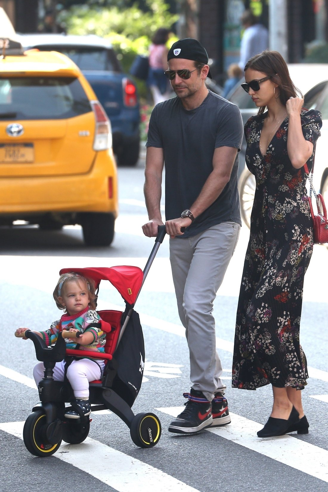 New York, NY  - Bradley Cooper and Irina Shayk look like normal parents out on the streets of the