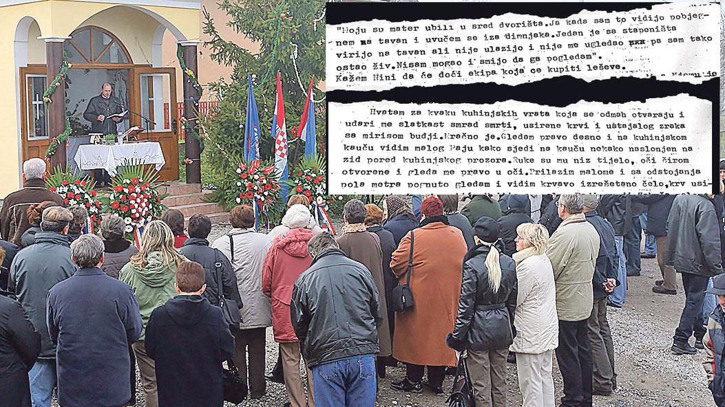 Nedavna komemoracija za žrtve i dijelovi dnevnika