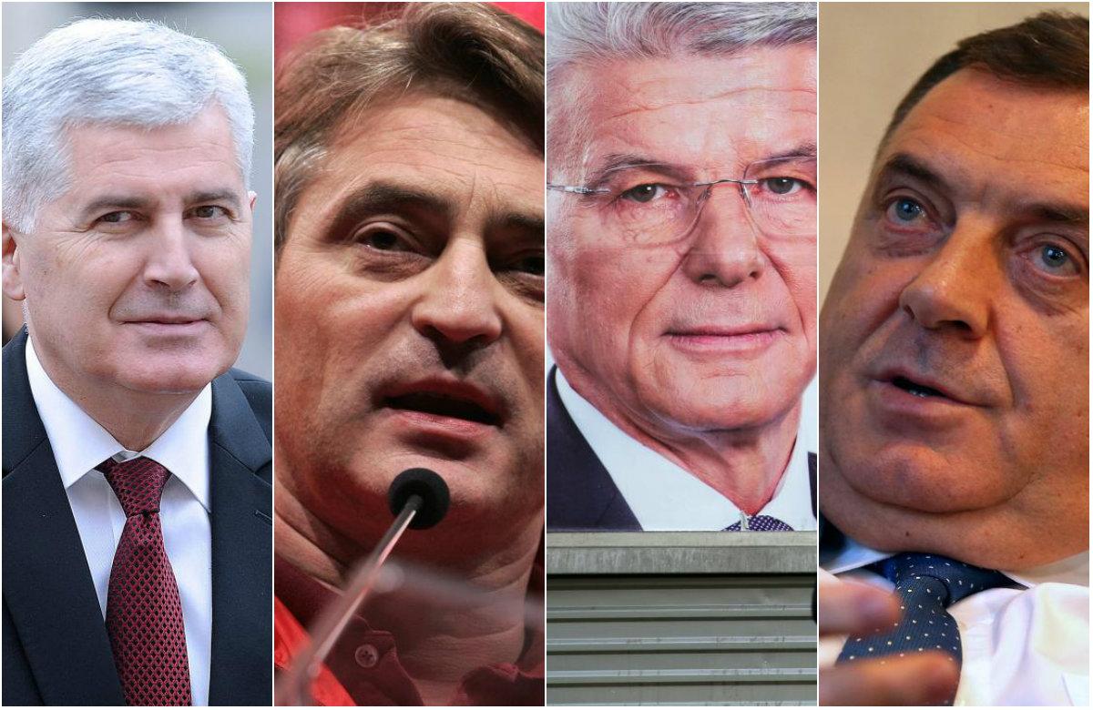 Dragan Čović, Željko Komšić, Šefik Džaferović i Milorad Dodik.