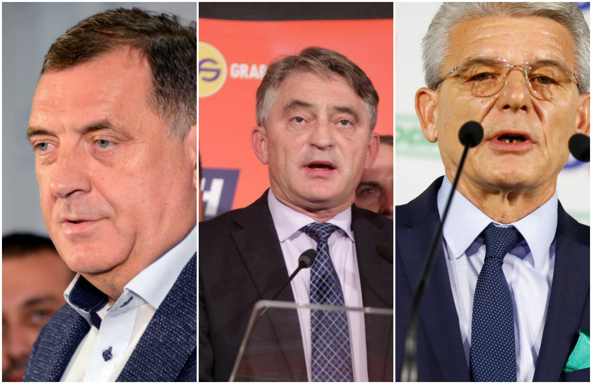 Milorad Dodik, Željko Komšić, Šefik Džaferović