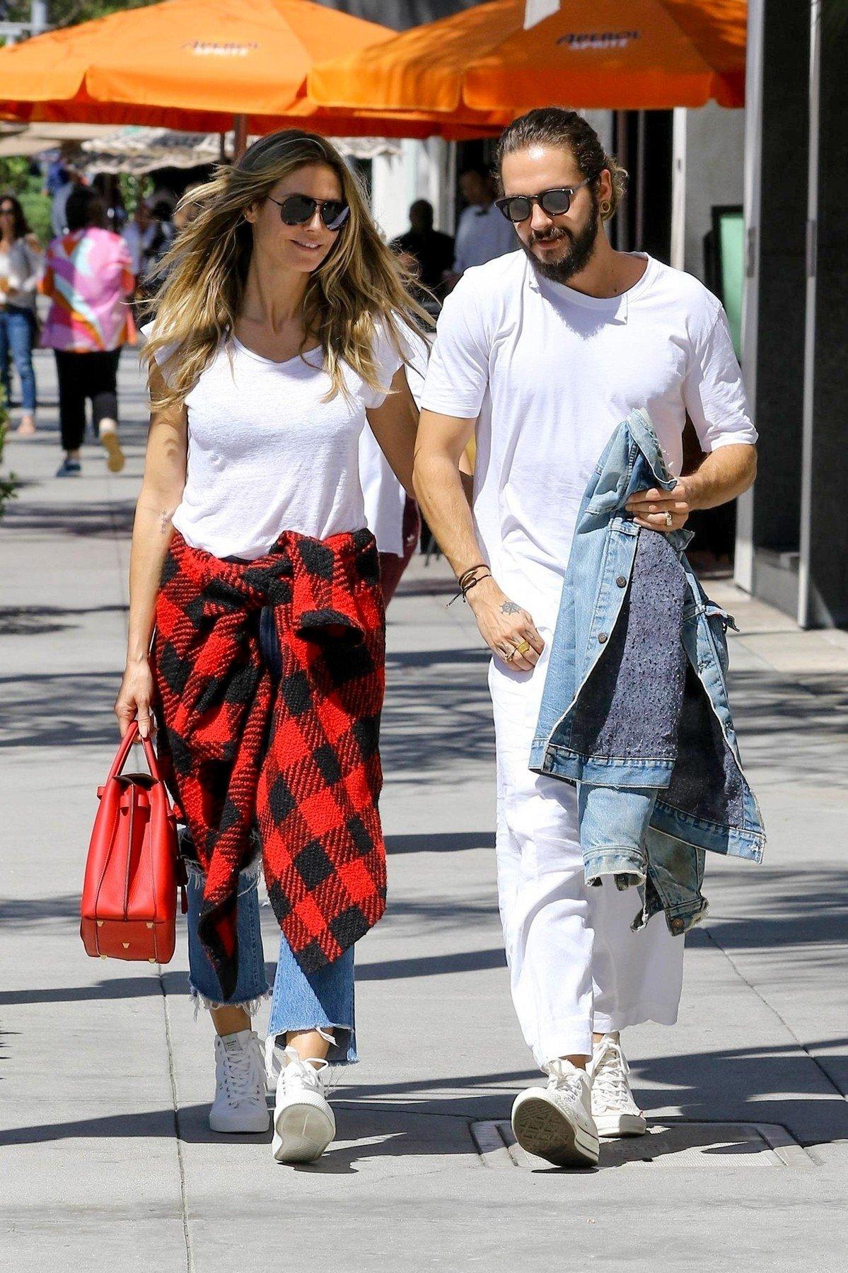 Heidi Klum i Tom Kaulitz u šetnji