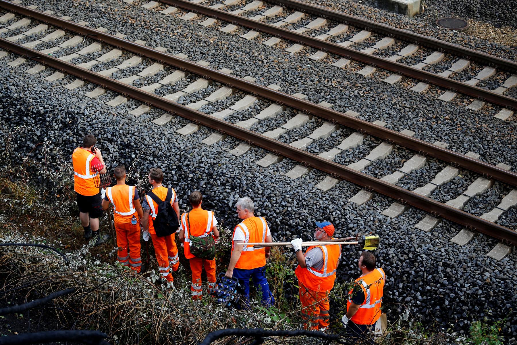 Ilustracija, radnici na željeznici