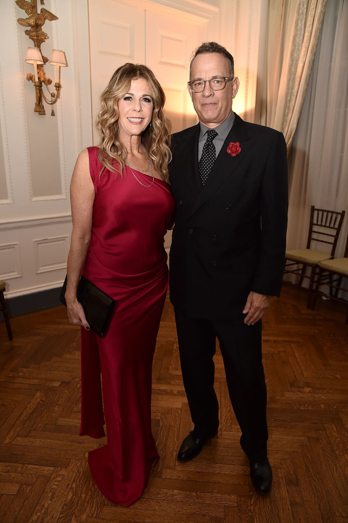 NEW YORK, NY - NOVEMBER 09:  Rita Wilson and Tom Hanks attend the 2018 American Friends of Blérancourt Dinne at Colony Club on November 9, 2018 in New York City.  (Photo by Theo Wargo/Getty Images)