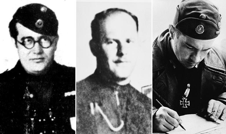 Ljubo Miloš, Miroslav Filipović-Majstorović i Maks Luburić
