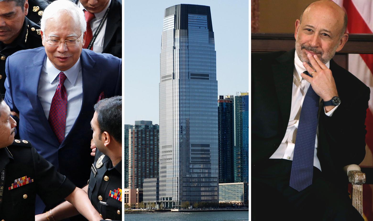 Bivši premijer Malezije Najib Razak, sjedište Goldman Sachsa i bivši izvršni direktor Goldman Sachsa Lloyd Blankfein
