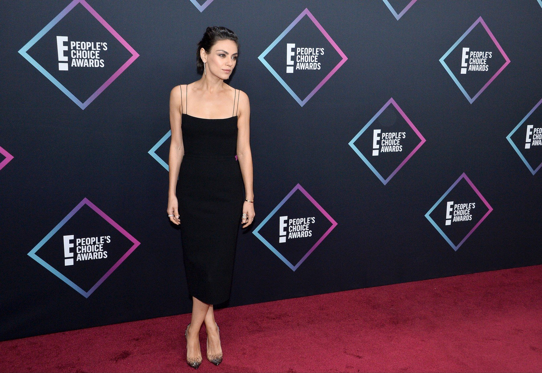 Actress Mila Kunis arrives for the 44th annual E! People's Choice Awards at the Barker Hangar in Santa Monica, California on November 11, 2018.  Photo by /UPI, Image: 395482952, License: Rights-managed, Restrictions: , Model Release: no, Credit line: Profimedia, UPI