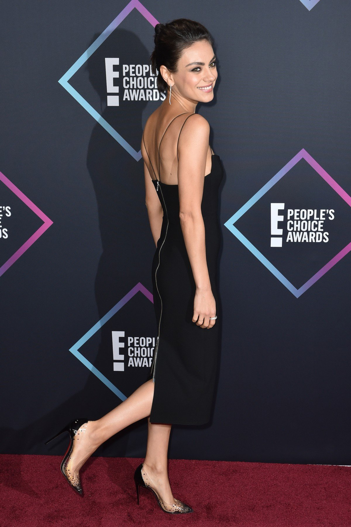 Mila Kunis attends the People's Choice Awards 2018 at Barker Hangar on November 11, 2018 in Santa Monica, CA, USA., Image: 395489549, License: Rights-managed, Restrictions: , Model Release: no, Credit line: Profimedia, Abaca