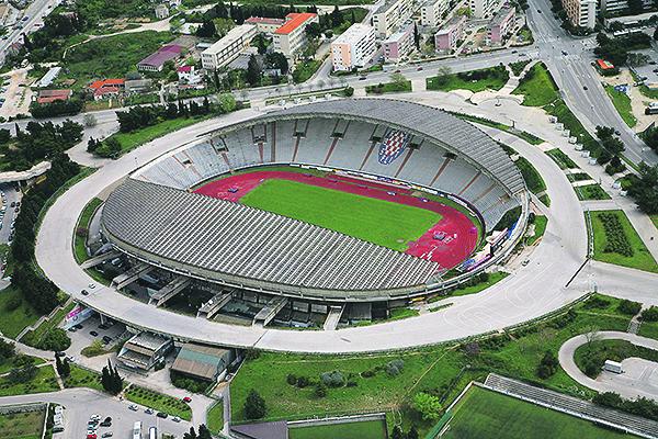 Split, 220312. Poljud.  Stadion u obliku otvorene skoljke nazvan Poljudska ljepotica sagradjen je 1979. godine. Autor projekta je arhitekt dr Boris Magas iz Rijeke. Foto: Vojko Basic / CROPIX