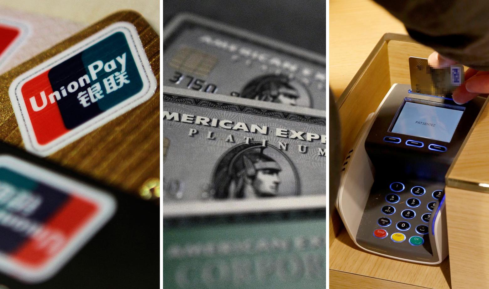 Ilustracija - UnionPay, American Express i plaćanje karticom