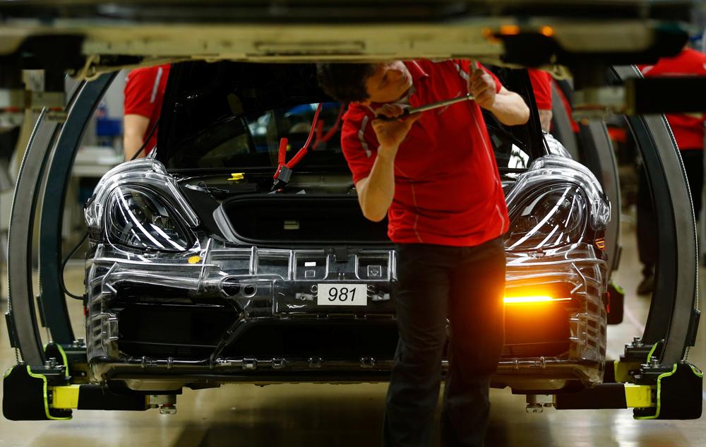 Ilustracija: Tvornica Porschea u Stuttgart-Zuffenhausenu