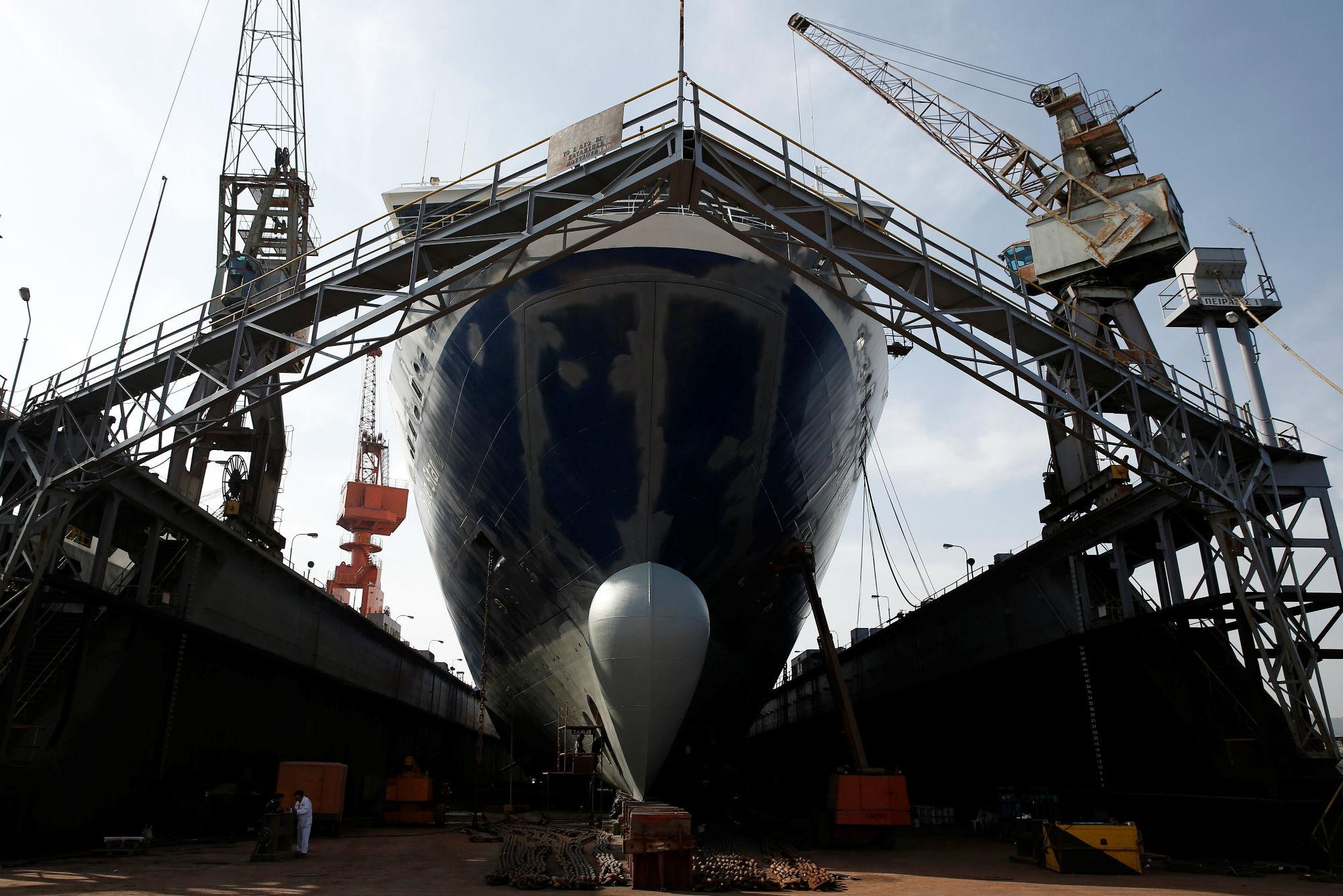 Grčko brodogradilište u Pireju, nedaleko od Atene
