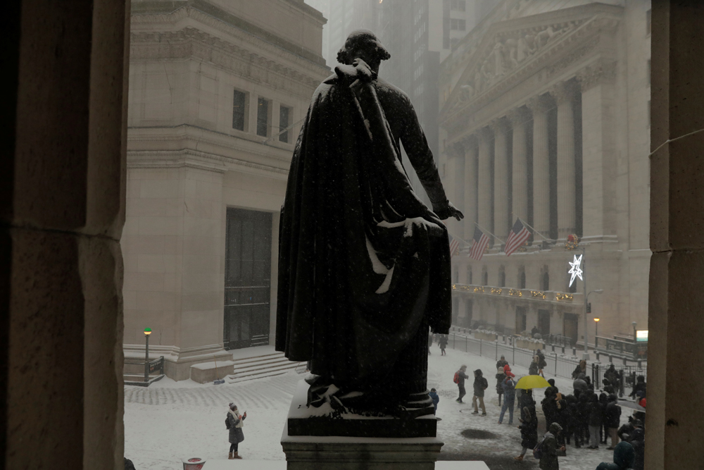 Wall Street, kip prvog predsjednika SAD-a Georgea Washingtona