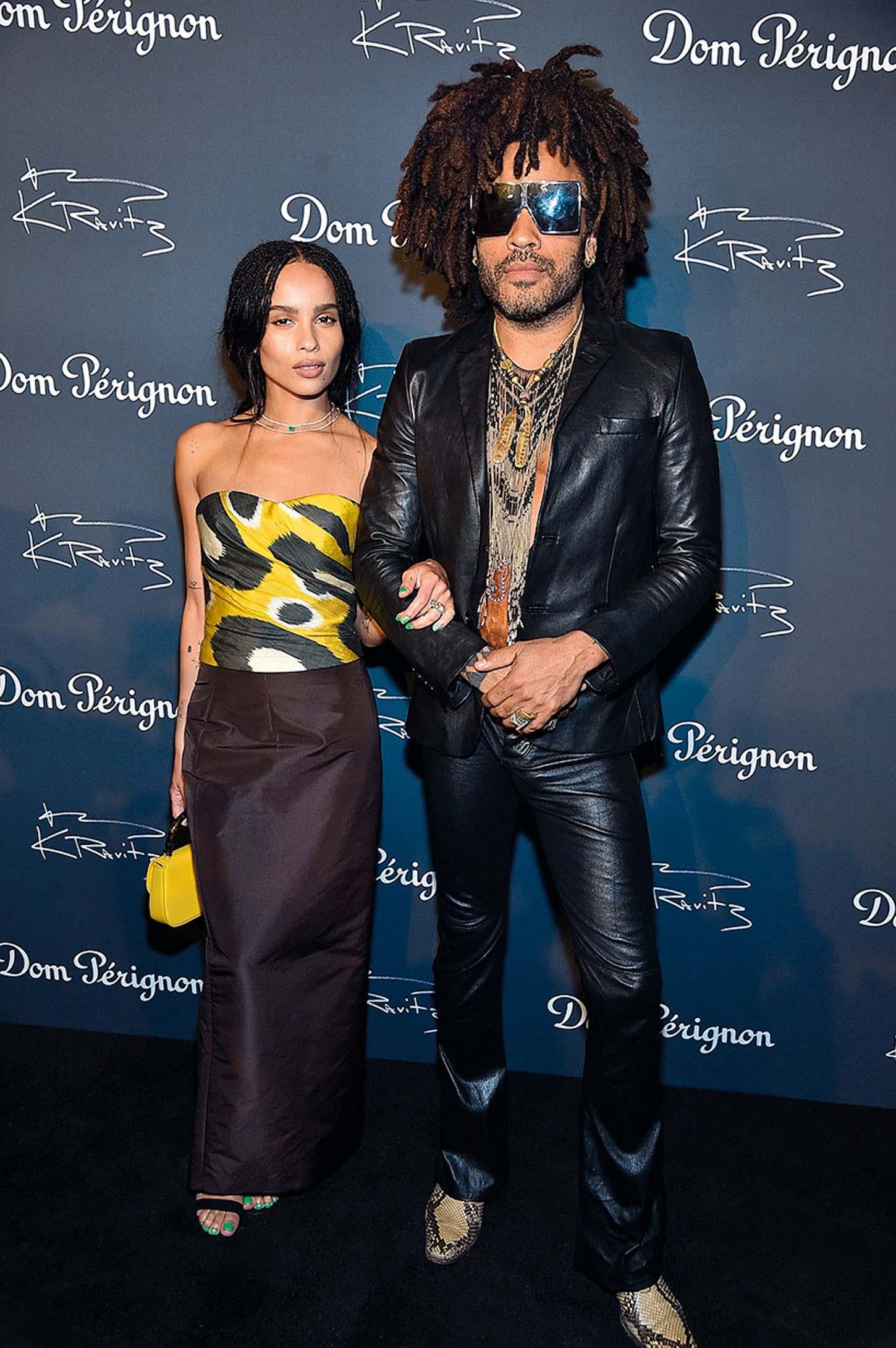 NEW YORK, NY - SEPTEMBER 28:  Zoe Kravitz and Lenny Kravitz attend the Dom Perignon