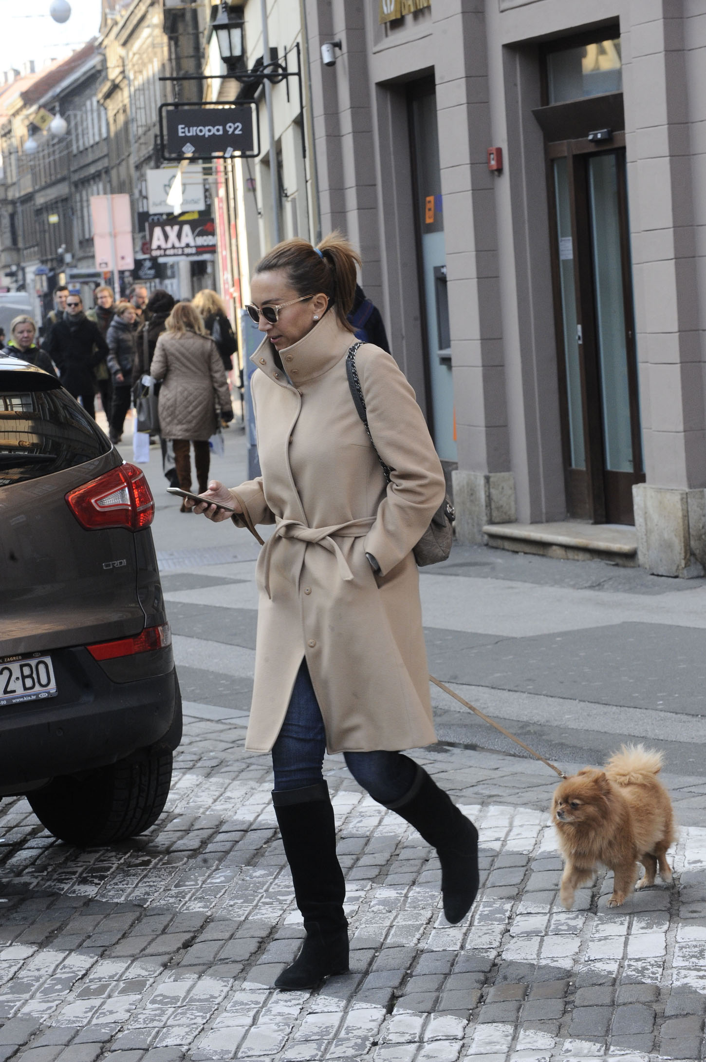 Spica / Zagreb 18.12.2017. / foto: Davor Matota / IIva Majoli i pas Lady