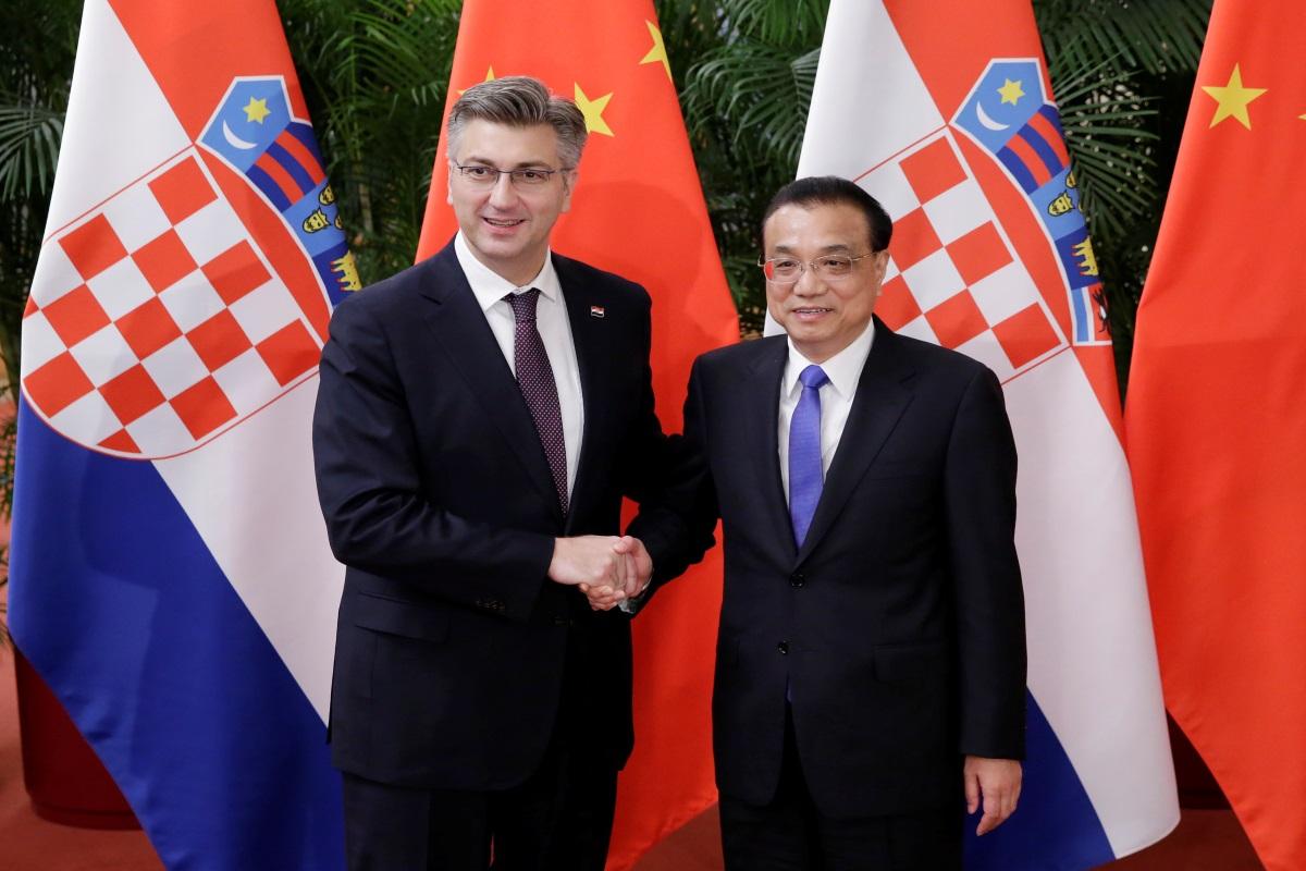 Andrej Plenković i kineski premijer Li Keqiang