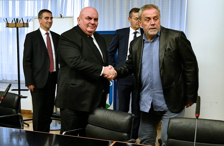 Dragan Marković Palma i Milan Bandić